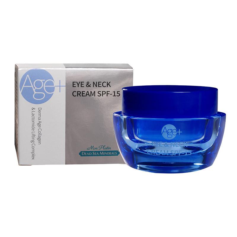 Крем для кожи вокруг глаз и шеи дерма эйдж коллаген с эффектом лифтинга SPF 15