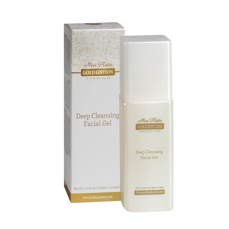 Гель для очистки кожи лица, обогащенный экстрактом черной икры Gold Edition Premium