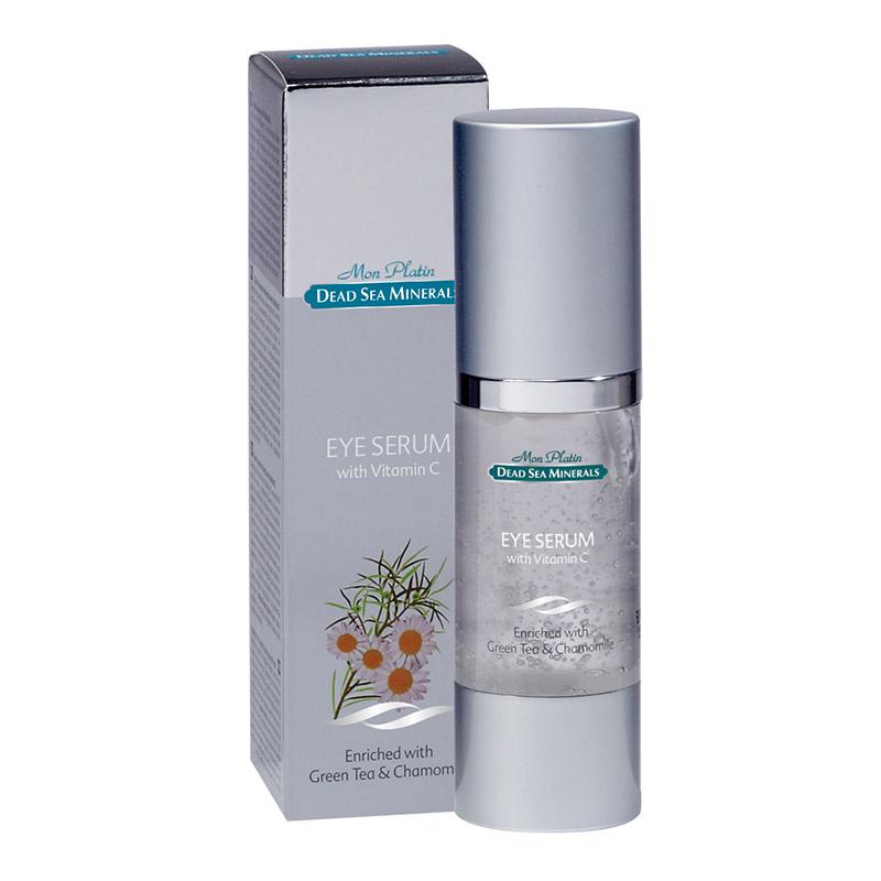 Косметическая сыворотка (серум) для ухода за кожей вокруг глаз, содержащая витамин С