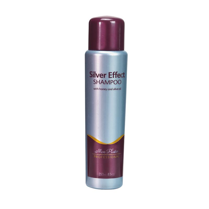 Эффект серебра  Шампунь для седых и серебристых волос, обогащённый мёдом и оливковым маслом